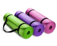 Eco-friendly TPE NBR Non Slip Fitness Exercise Mat with Carrying Strap Workout Mat Pilates and Floor Exercises folding yoga mat