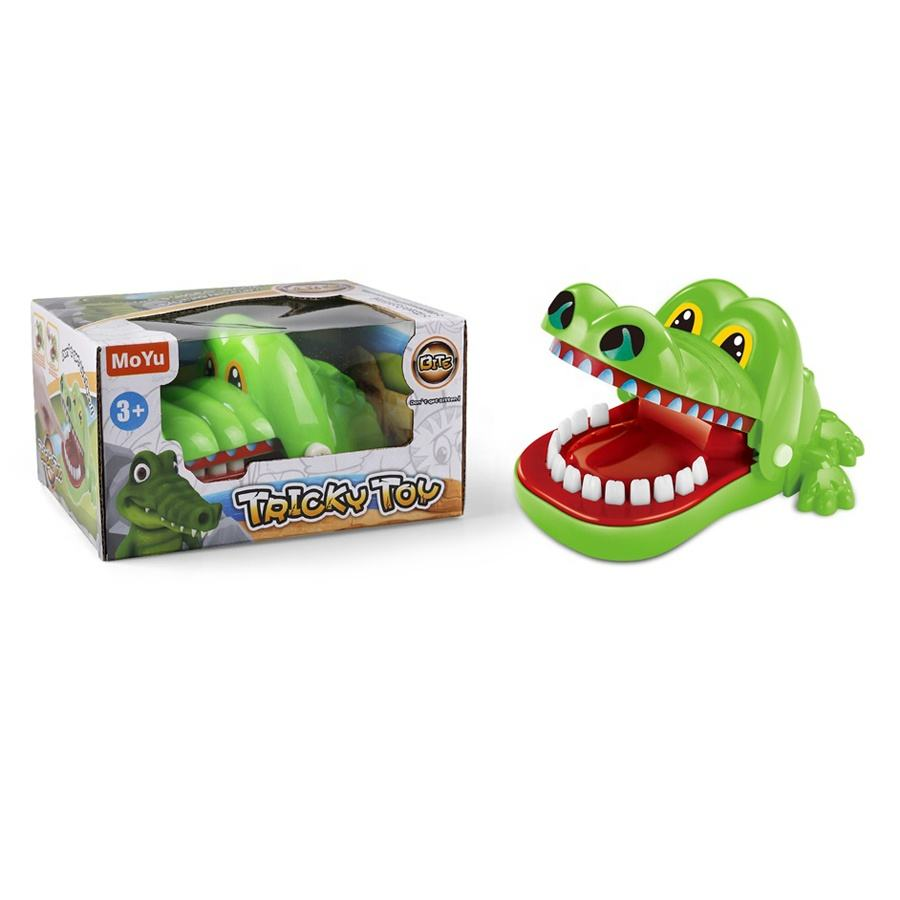 Classic Snappy Crocodile Bite Toy Dentist Game Catch Me Flashing Eyes Evil Laugh Toy for Kids
