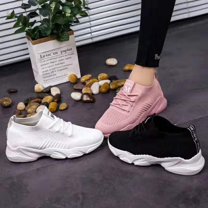 High Quality Sports Popular Black White Women Casual Shoes Women's Fashion Sneakers