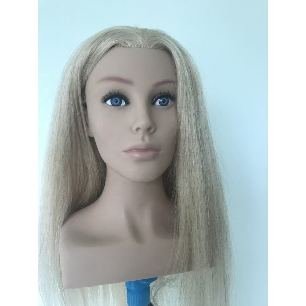Wholesale price europe face training mannequin head with shoulder for hairdresser