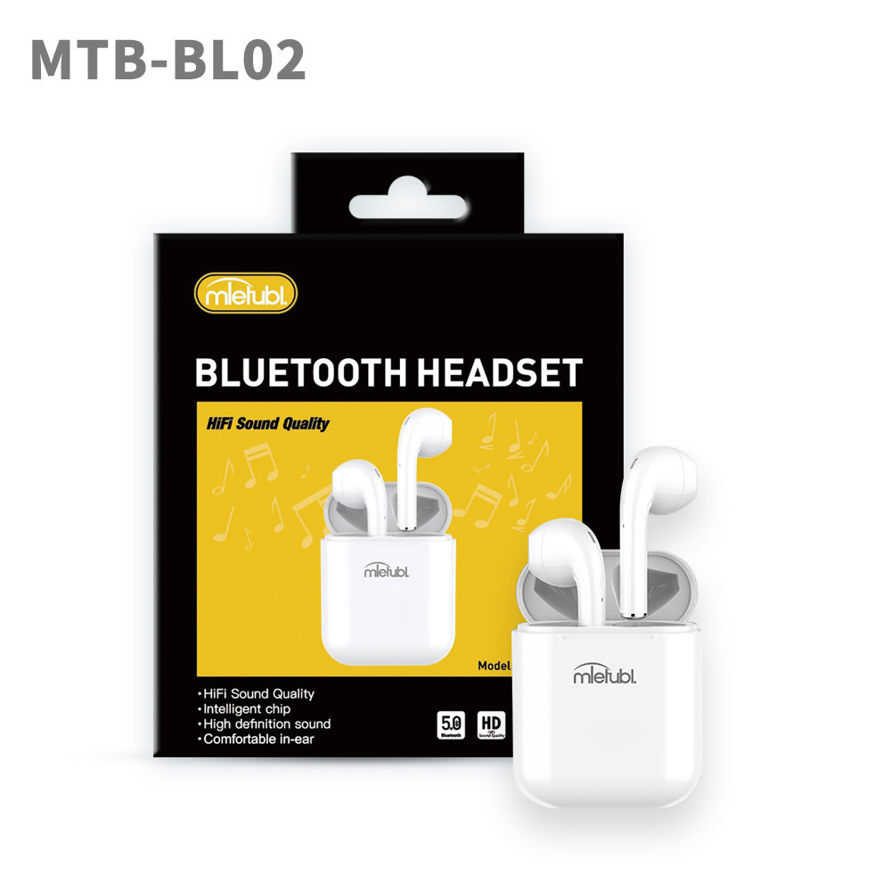 MIETUBL TWS for 5.0 Bluetooth Pop-up Hifi Audio Quality Guarantee Earbuds Earphone Headset with Retail Packing