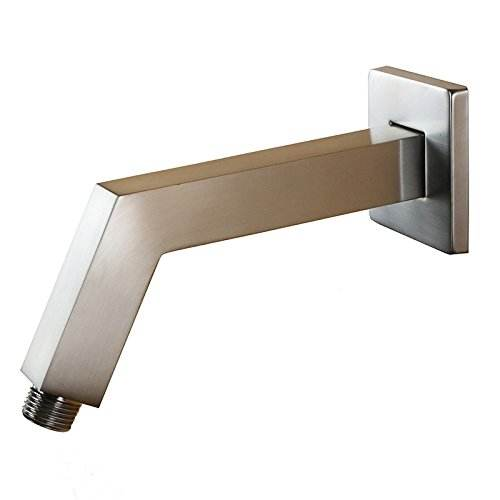 Wholesale china import 1/2 inch NPT All Brass 6.8-Inch Square Shower Arm with Flange Wall Mount