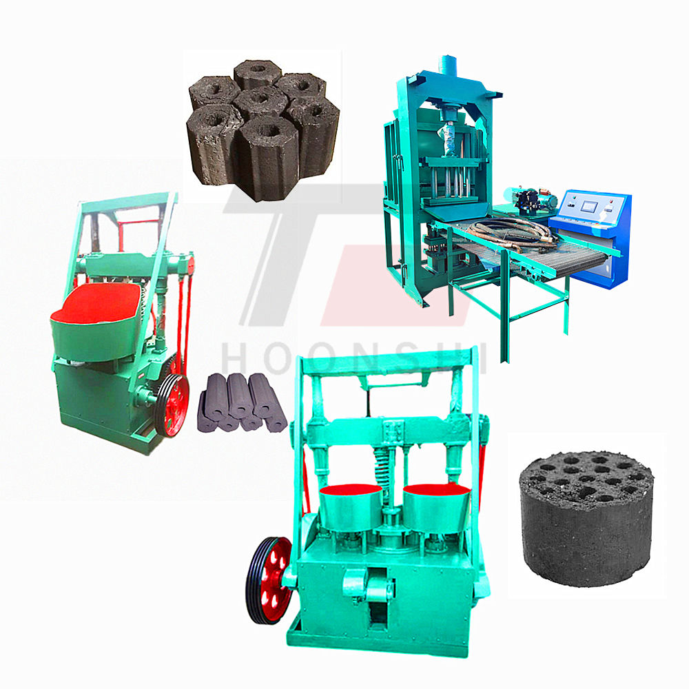 Small mechanical briquettes machine Automatic hydraulic pressure coal powder and carbon powder briquetting machine
