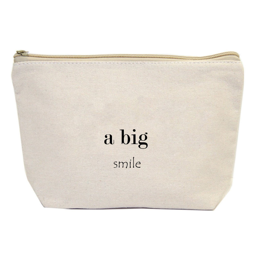 Promotional Wholesale 2019 blank plain cotton cosmetic bag bulk customized canvas makeup bag