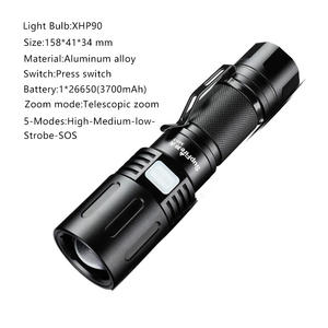 SupFire XHP90 Flashlight 3000 Lumens Super Bright Zoomable Led flashlights For Hiking Tactical Rechargeable Powerful Flashlight