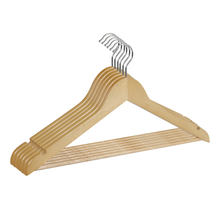 Factory Price OEM Laundry Customized Adult Clothes natural Wood Coat Hanger