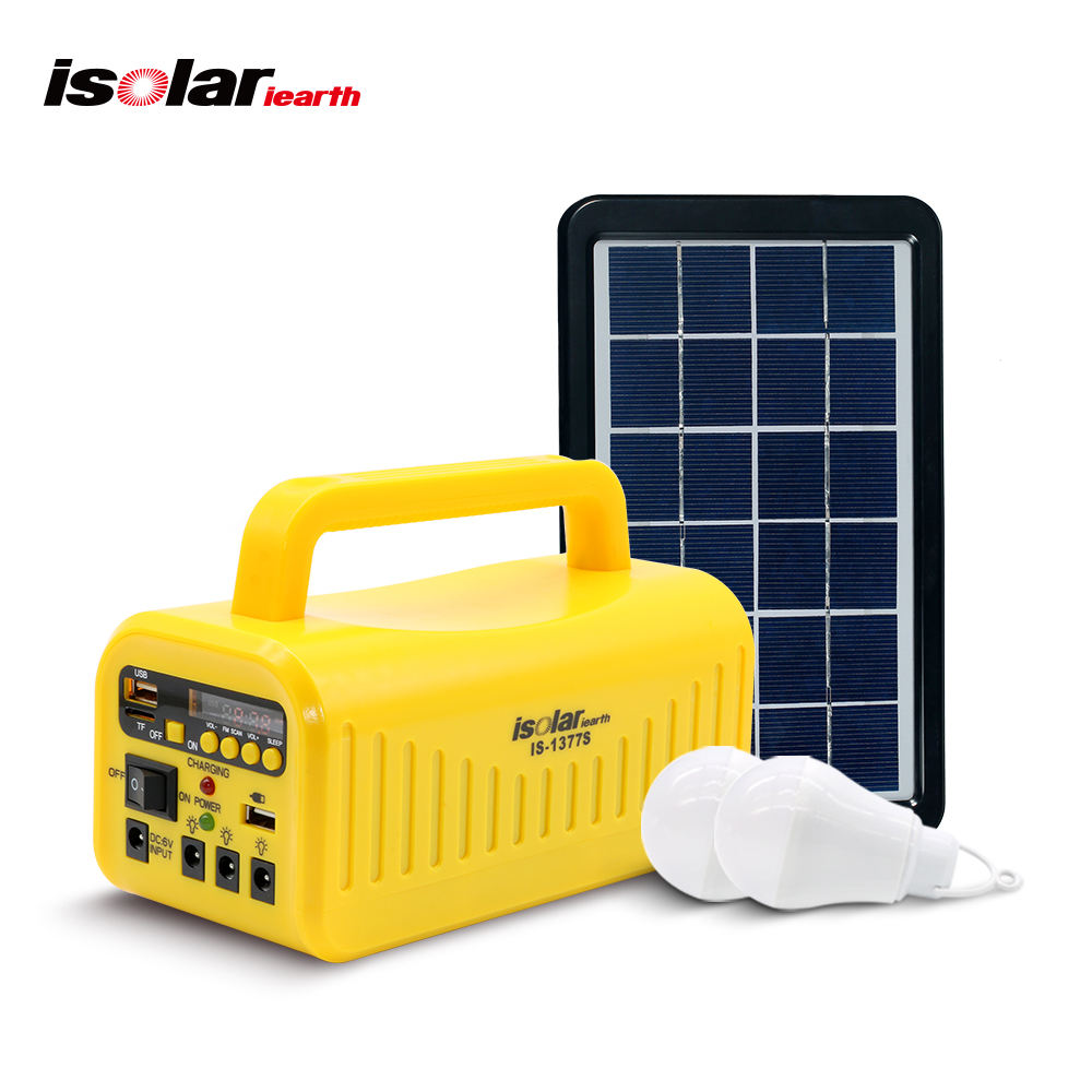 Portable Solar energy kit system Generator Outdoor Power Mini DC 3W Solar home Lighting System