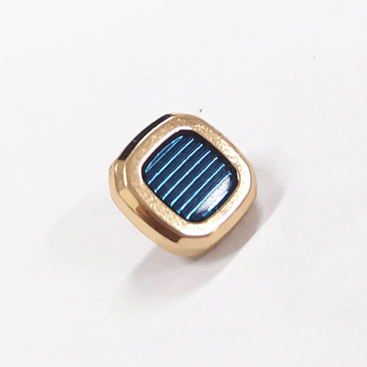 Square shape 11mm pearl snap button for garment accessories