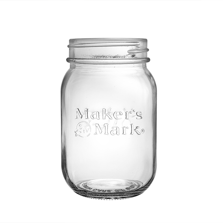 Customized logo 2oz 4 oz 8 oz Mini Round Mason Jar Emboss Logo Shot Glass Jar with Cap