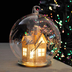 christmas decoration empty plain white christmas sphere ornaments baubles glass ball