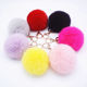 Customized lovely fluffy rabbit fur ball keychain as bag pendant decoration charm