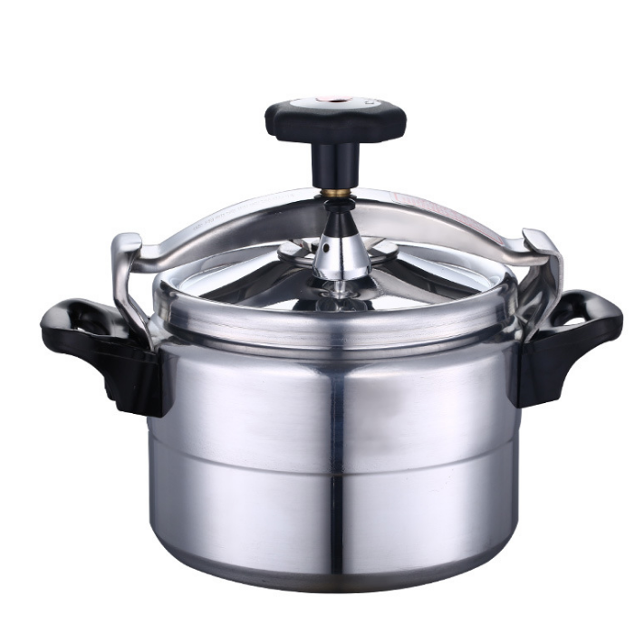 Straight edge aluminum mini pressure cooker with 2 handles