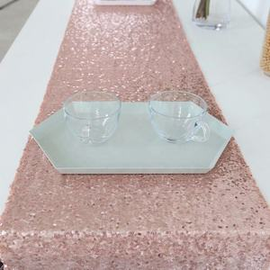 Hot selling Rose gold wedding decorative bling polyester sequin table runner