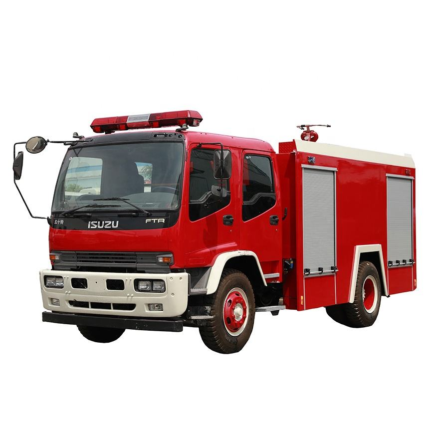 Japanese Chassis 6000Liters 4x2 fire truck light tower EURO4 Diesel engine trucks for sales/fire fighting wagon truck vehicle