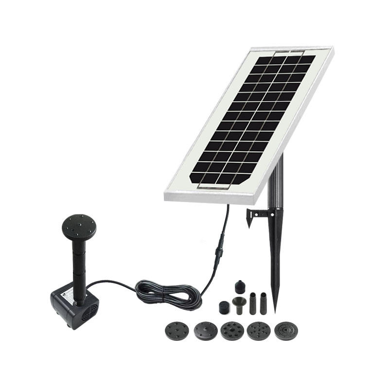3W solar panel solar fountain with dc water pump