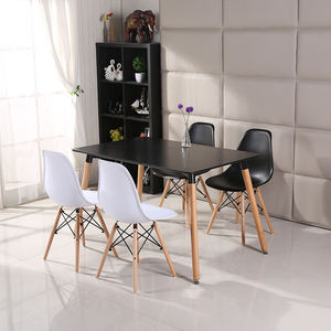 Wholesale Plastic Furniture White Designs 6 Chairs Modern Dining Table And Chairs Set