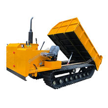 Mini crawler dumper trucks rubber track 1 tons crawler transporter dumper