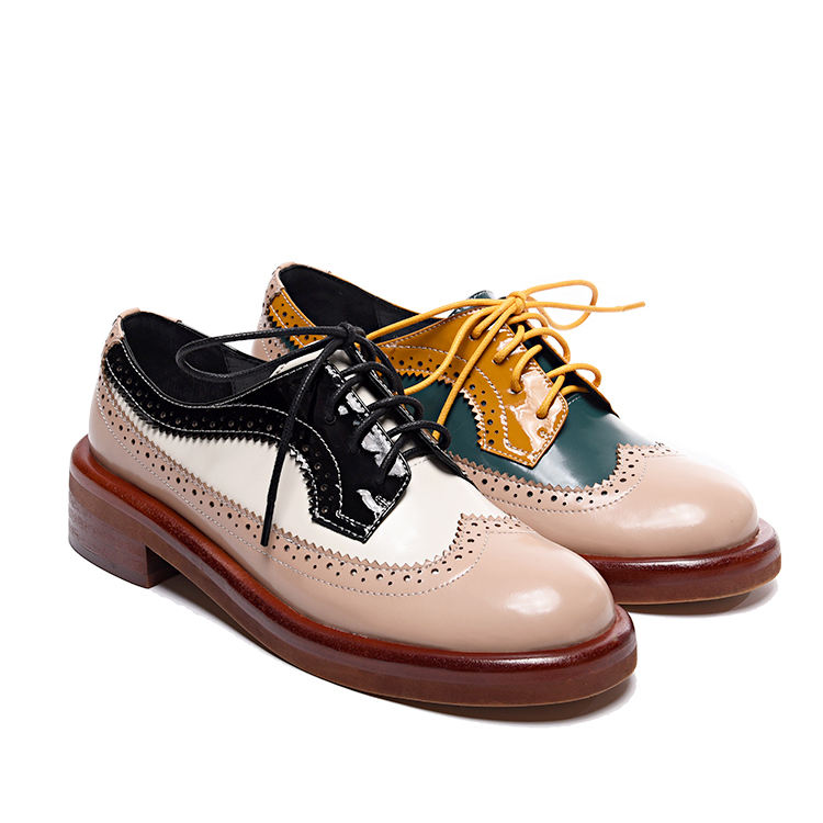 Low Heel Hot Selling Handmade Women's Causal Spring and Fall Flat Shoes Ladies Brogues Shoes