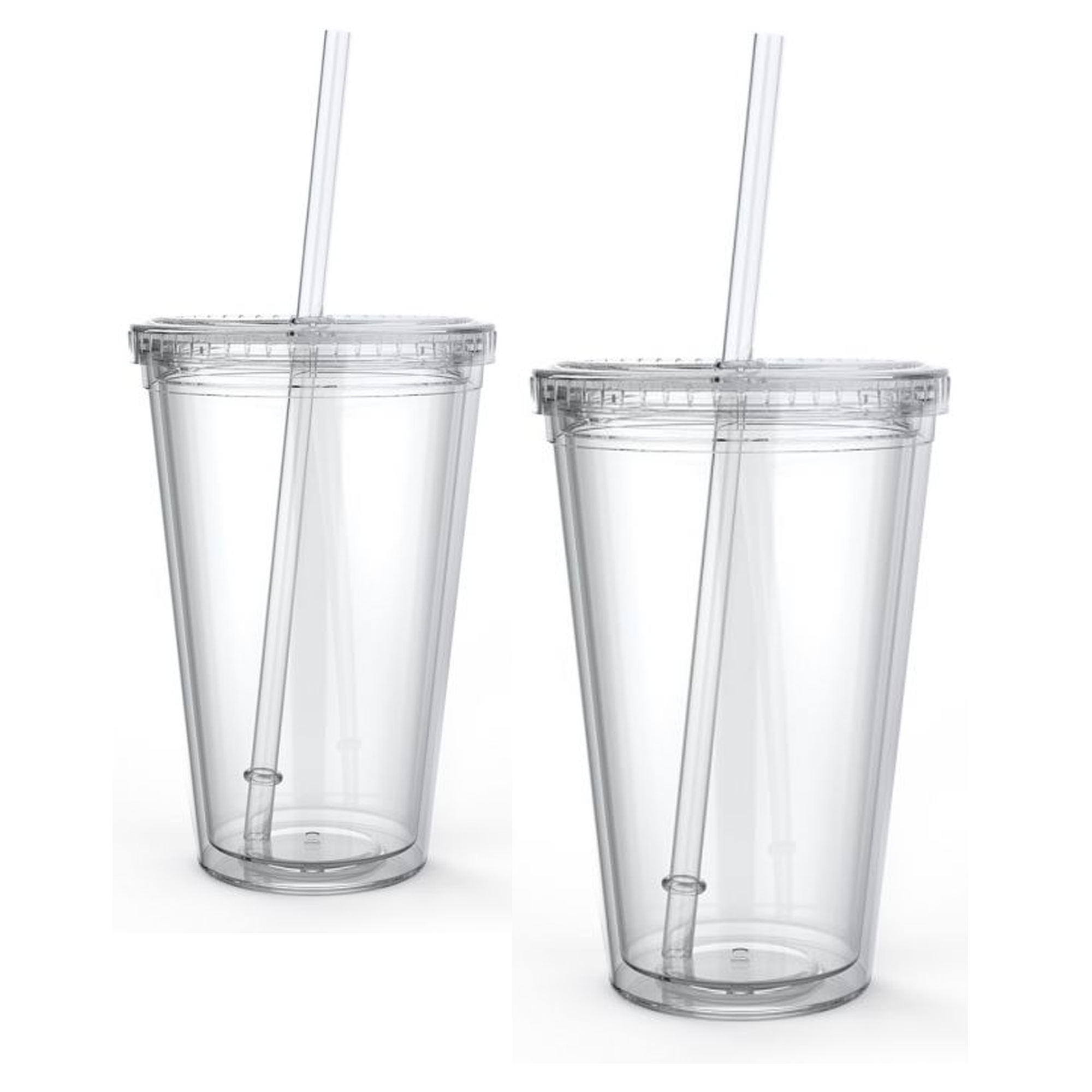 Wholesale low price 16OZ transparent Plastic acrylic Tumbler with straw