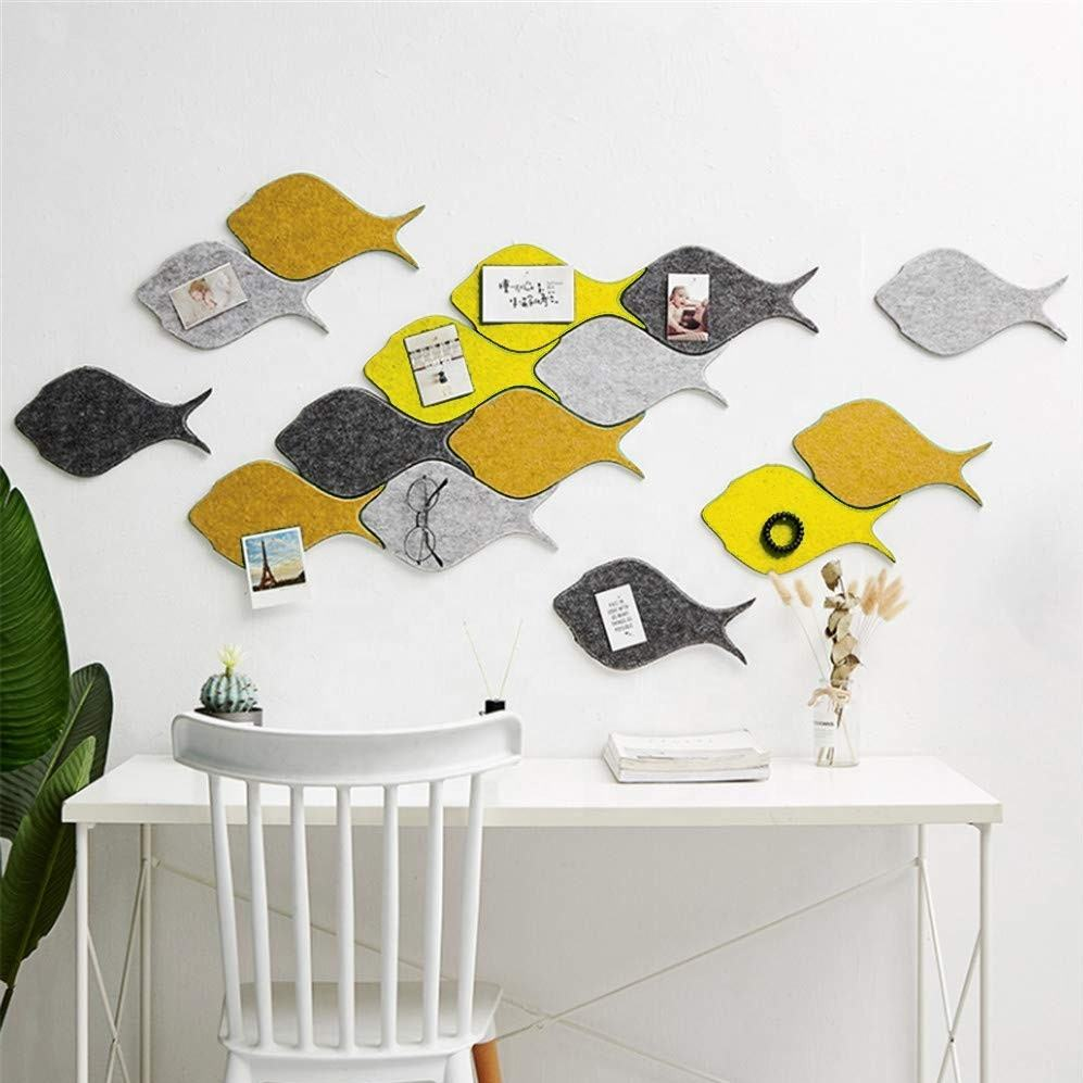 Decorative Fish Shape High Density Felt Tiles Memo Bulletin Board with self adhesive Back