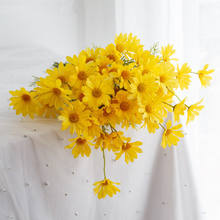 Shininglife High quality daisy artificial flower wedding silk  garland artificial flower arrangement