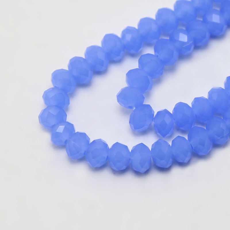 4x6mm Glass Beads Opaque Blue Faceted Rondelle Beads DIY Jewelry Bead Jewelry Making