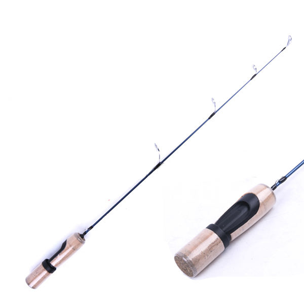 Cork handle 25'' carbon ice fishing rods