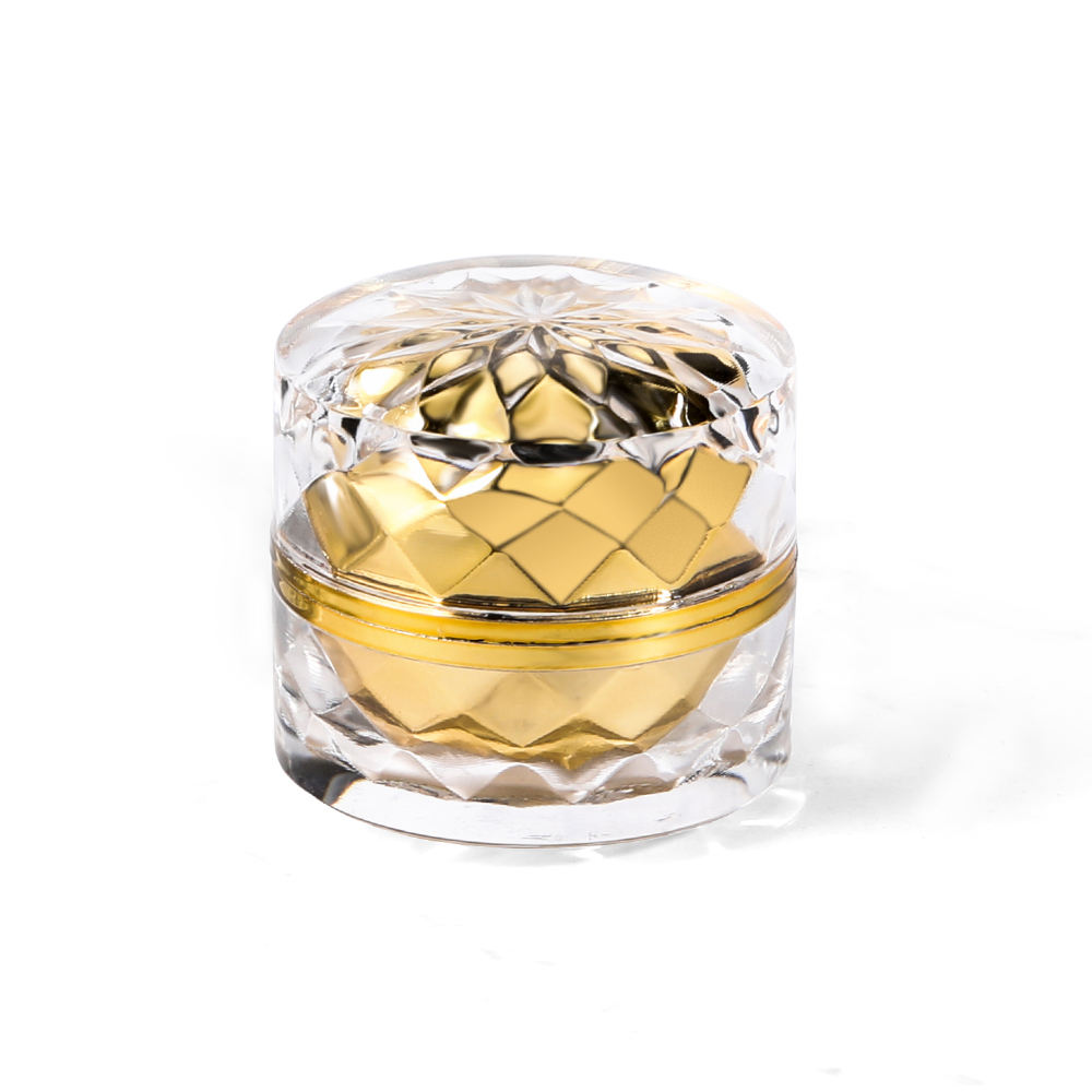 5g plastic acrylic luxury crystal cosmetic cream jar in stock