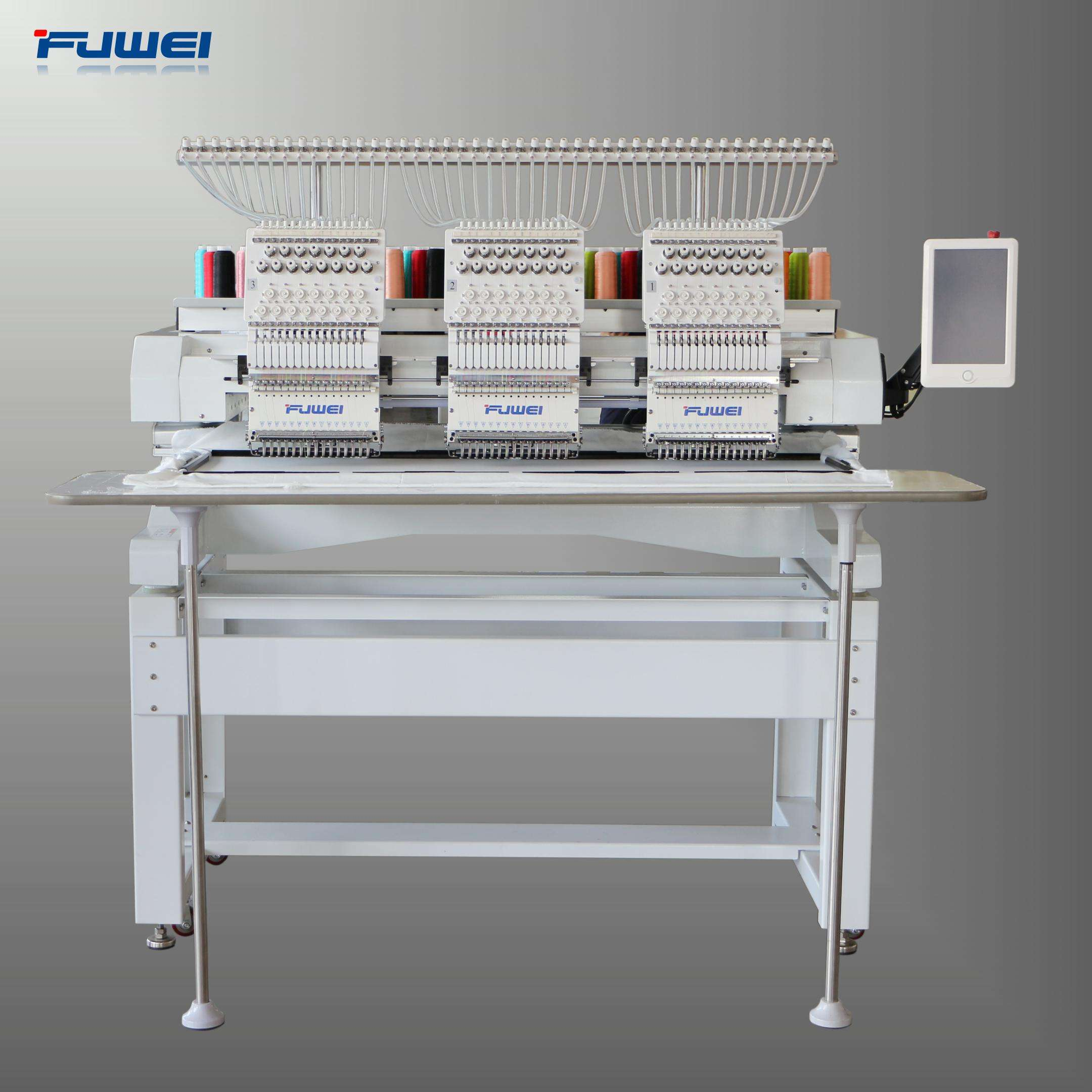 fuwei 2020 model new 3 heads embroidery machines ,ulti heads embroidery machine as tajima type
