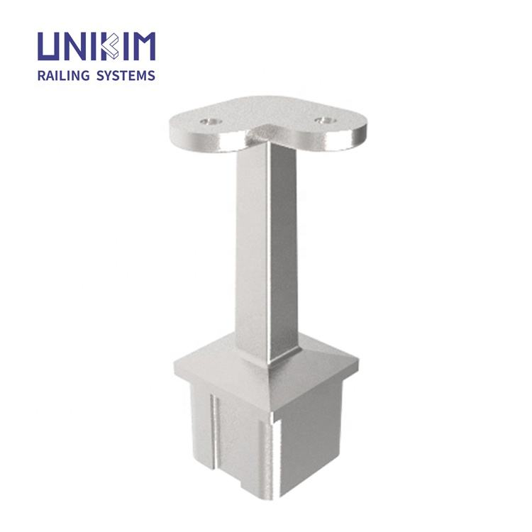 Stainless Steel Square Tube Handrail Mounting Bracket, Square Handrail Fittings