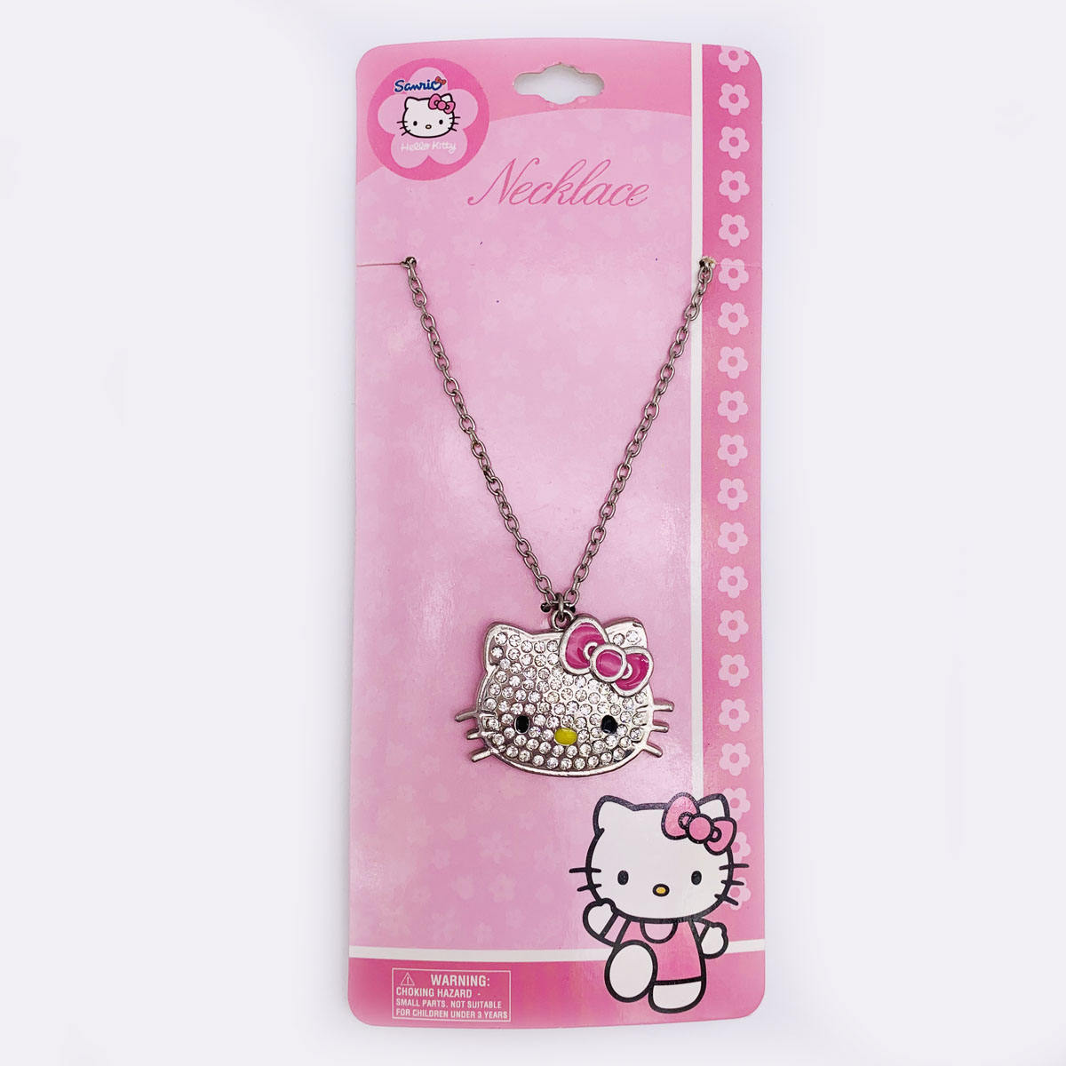 Collier hello kitty unisexe, en argent sterling, cristal, 80mm, avon Sedex BSCI aile, bijoux d'usine