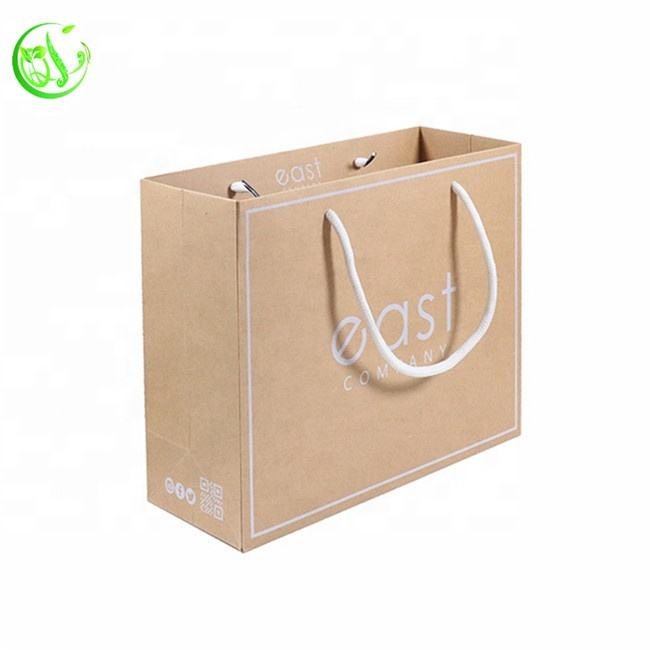 Custom Logo Gift Shopping Kraft Paper Bag China For Promotion Use