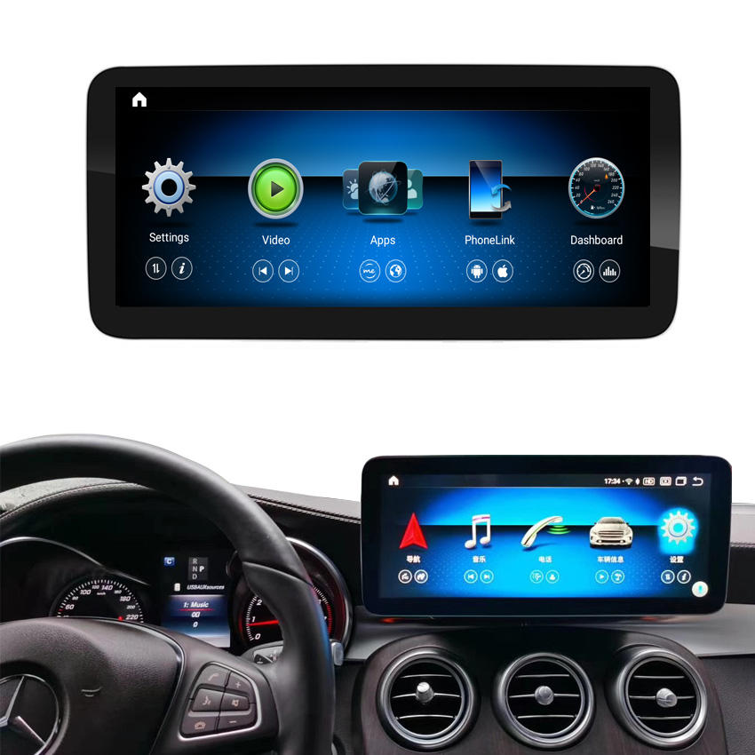 "Kanor 1920*720 12.3 ""Touch Screen Android 10.0 8Core Cpu 4G Ram 64G Rom Carplay wifi Voor Mercedes Benz Gla Klasse Gla 200"