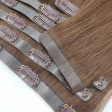 Wholesale Remy Human Hair Seamless Pu Clip In Hair Extension