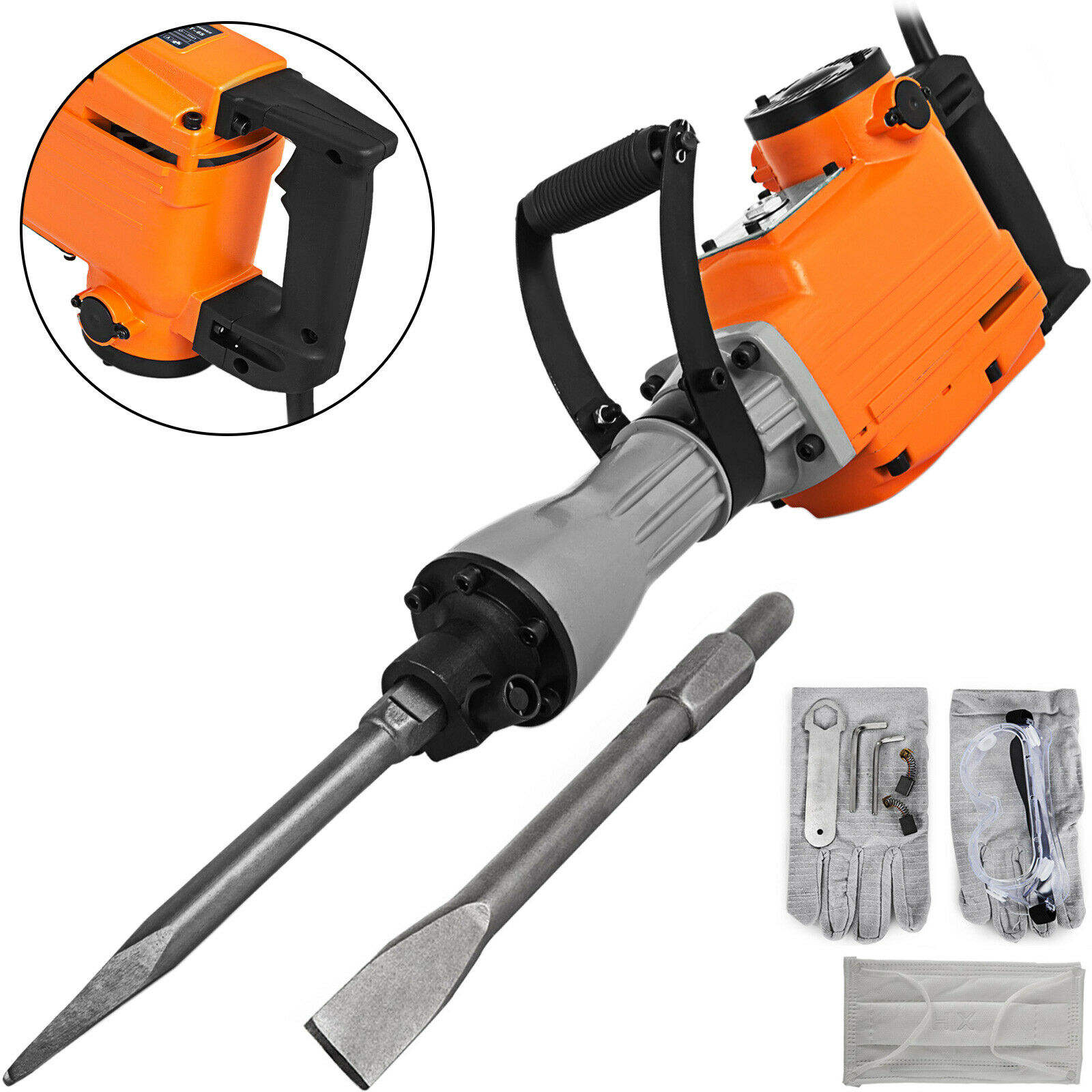 1500W Electric Demolition Hammer Concrete Breaker Jack hammer