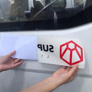 Outdoor Use Multiple Colors Custom Logo Transfer Car Window Vinyl Decal