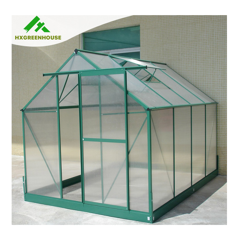 New- style aluminium frame commercial greenhouse with a roof window HX65214G