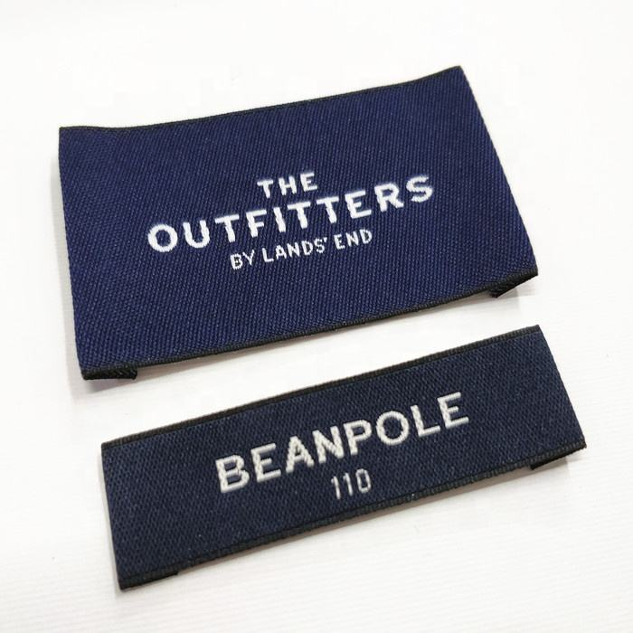 Fashion Damask Custom Garment Woven Labels For Clothing Manufacturer