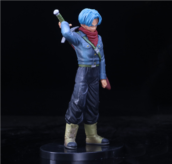Anime Hand Om Het Model Dragon Ball Dxf Super Warrior Super Een Trunks Pvc Ornamenten Boxed
