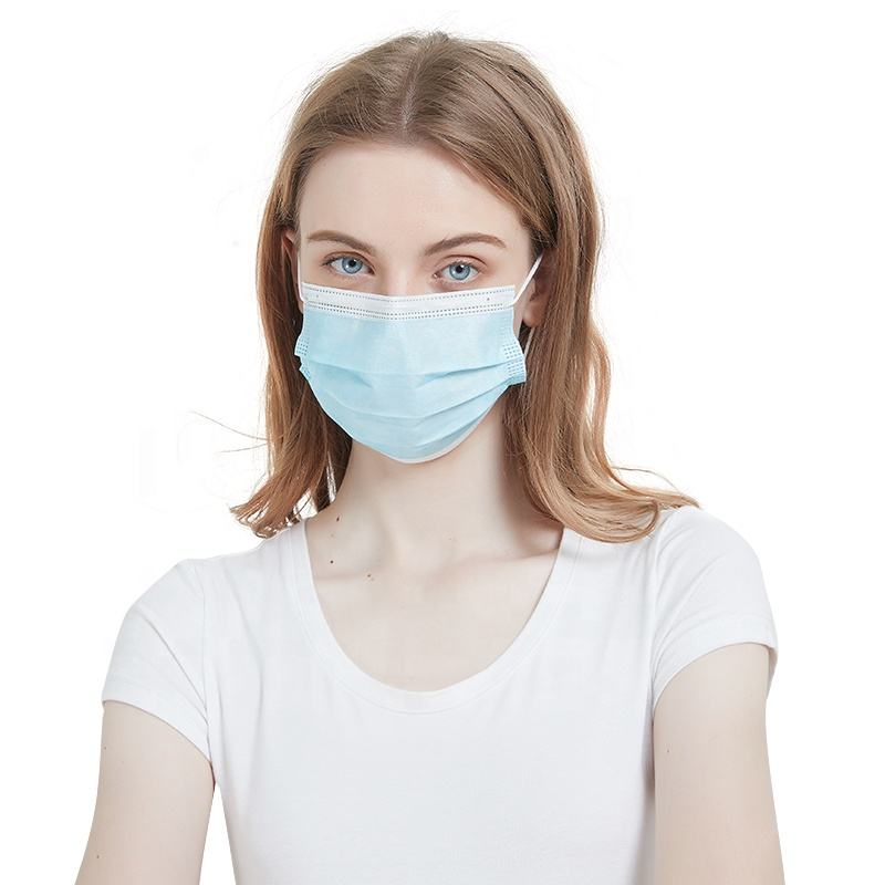 Factory Directly Provide earloop disposable face masks 3-ply blue mouth mask