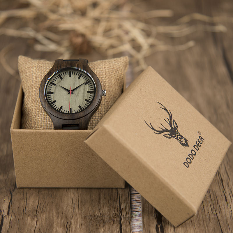 New Arrival Leisure Wrist Eco-friendly Handcrafted Natural Wood Watches Men Women
