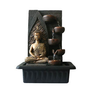 Wholesale home decorative polyresin handmade buddha statue indoor water tabletop fountain