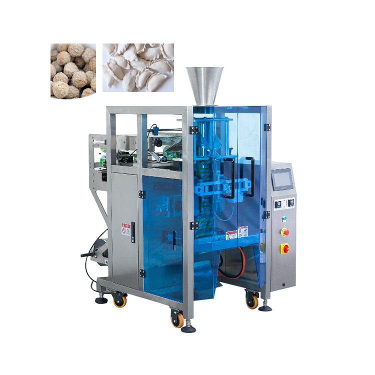 Vertical Form Filling Seal Packing Machine for 1kg Frozen Dumplings and Meat Balls Bags