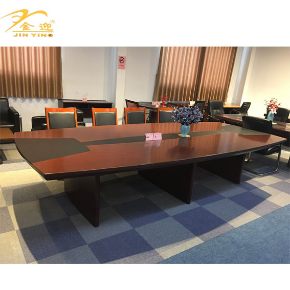 Conventional Wooden Office Conference Table For Meeting Room Used