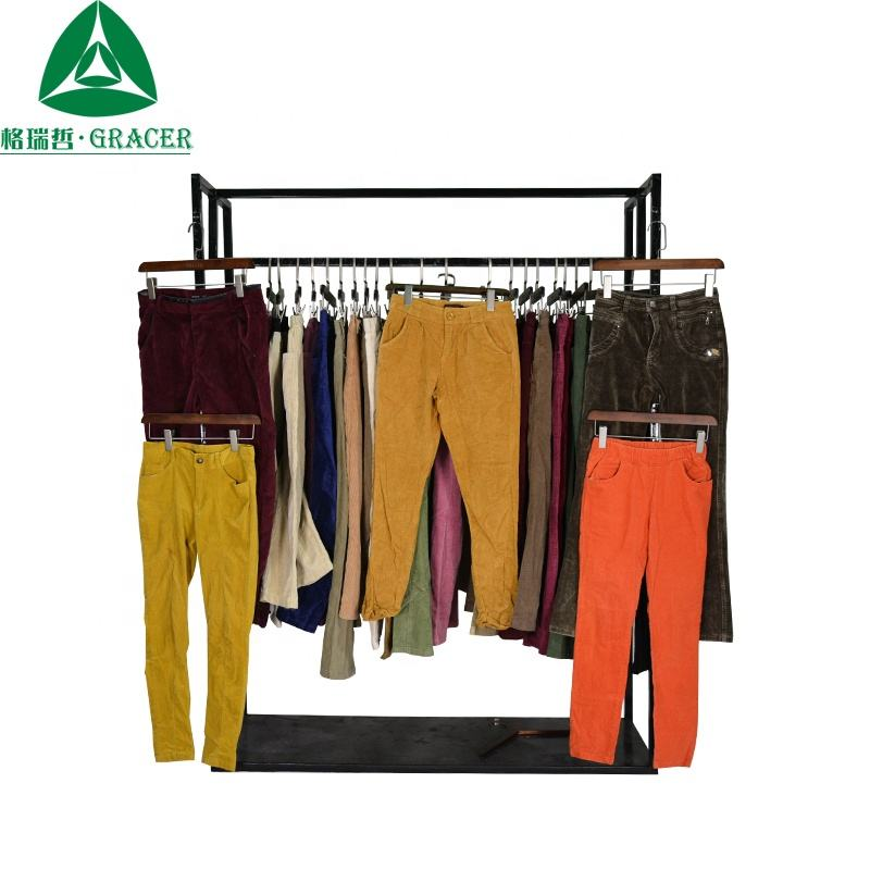 2019 Mixed sizes skinny corduroy pants brand second hand clothes bale