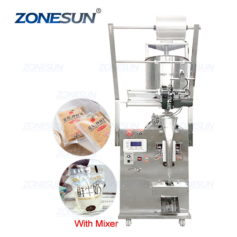 ZONESUN ZS-650 Automatic Paste Honey Stick Oil Vinegar Water Sealing Quantitative Liquid Packaging Machine Filling Machine