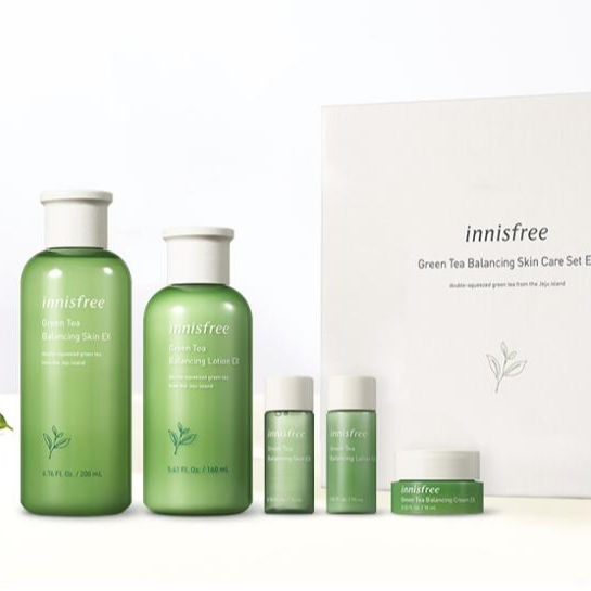 Innisfree Green Tea Balancing Skin Care Set EX, Korean cosmetics, Korean Skin Care