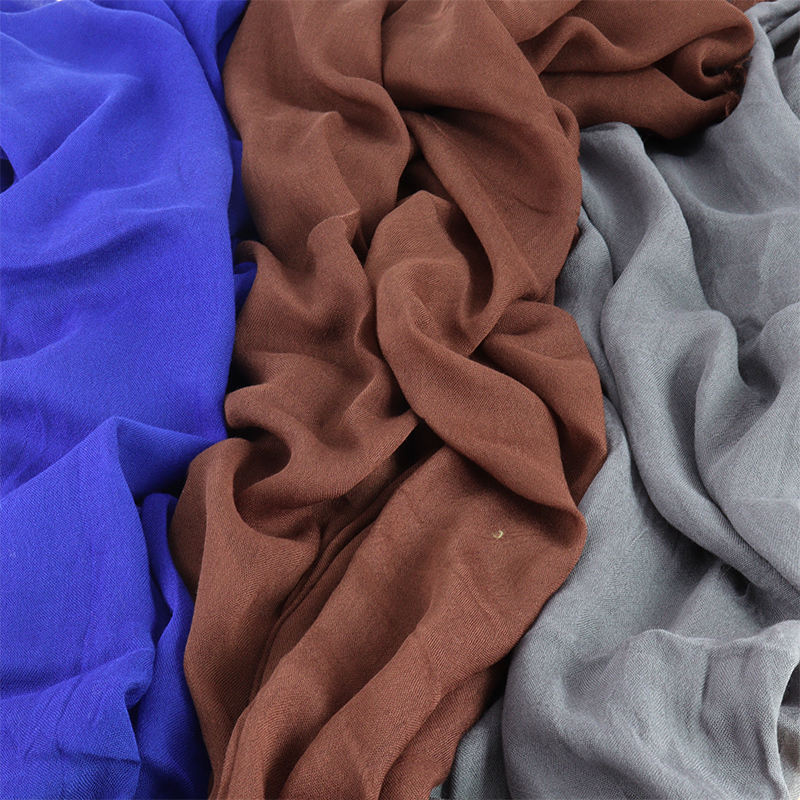2020 New Modal Cotton Hijab Plain Color Modal Shawls For Women Timeless Hijab Design For Arab Islamic Women Scarf Hijab