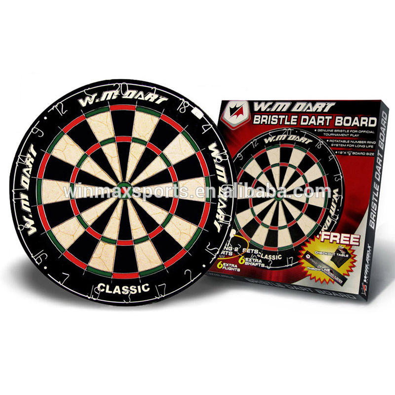"WINMAX 18""x1-1/2""bristle dartboards FREE ACCESSARIES Indoor games promotional dart board with 6 darts"