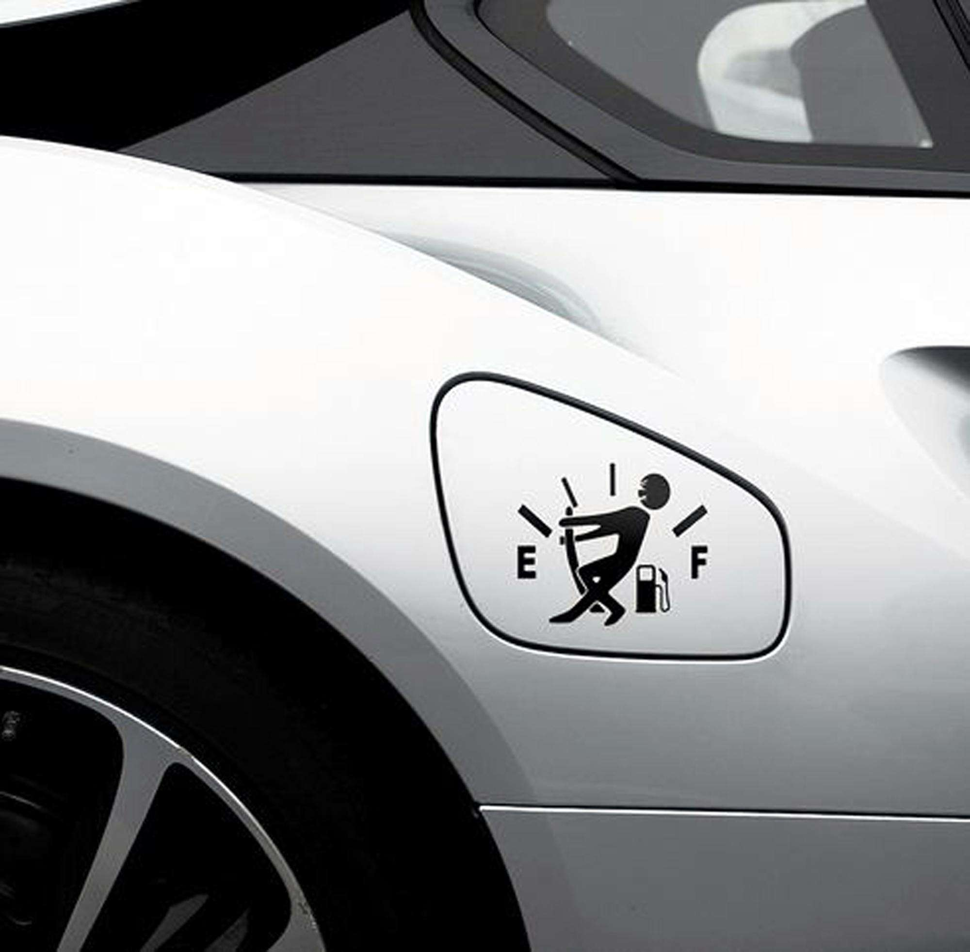 Hot JDM Funny Pull Fuel Tank Pointer To Full Delicate Vinyl Car Sticker Decal